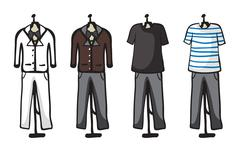 Stock Illustration of Various garments of male