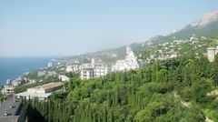 Ai-Petri is a peak in the Crimean Mountains in Yalta Stock Footage