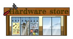 Stock Illustration of A hardware store