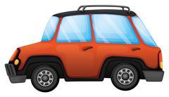 An orange car Stock Illustration
