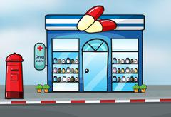 A drug store Stock Illustration