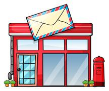 a post office - stock illustration