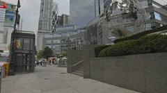 Columbus Circle New York City Manhattan NYC Globe Statue Midtown 4K Corporate Stock Footage