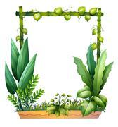 Green plants Stock Illustration