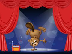 Stock Illustration of A beaver at the stage