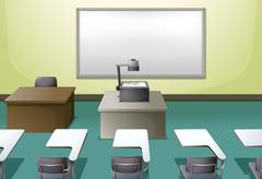 Stock Illustration of College classroom