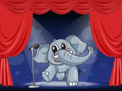 An elephant at the stage Stock Illustration