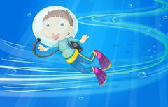 a boy - stock illustration