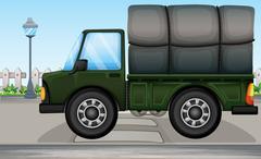 A big truck Stock Illustration