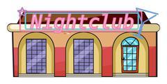 A nightclub Stock Illustration