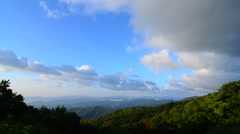 Stock Video Footage of Scenic Autumn Blue Ridge Parkway from mount mitlchell