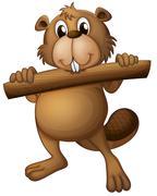Stock Illustration of A beaver