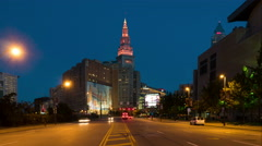 4K Cleveland Morning Rush Hour Timelapse 1 Stock Footage
