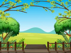 Stock Illustration of Natural view of nature