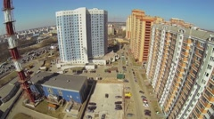Houses of micro-district named by 1st May near Moscow Belt Way Stock Footage