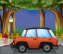 Stock Illustration of A car in the street