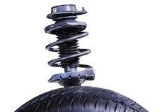 Shock absorber on white Stock Photos