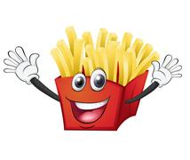 A french fries Stock Illustration