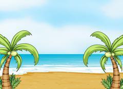 Stock Illustration of A sea shore