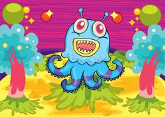 A scary monster Stock Illustration