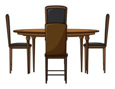 A dinning table Stock Illustration