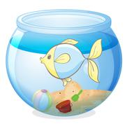 Fish bowl isolated on white background Piirros