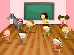kids - stock illustration