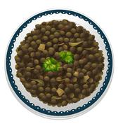 A lentils and a bowl Piirros