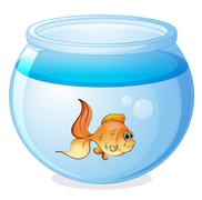 A fish and a bowl Stock Illustration