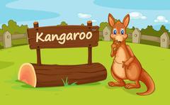 A kangaroo Stock Illustration