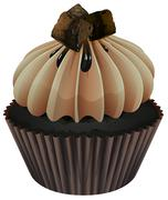 Stock Illustration of a cupcake