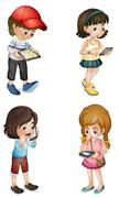 kids - stock illustration