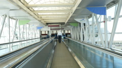 Airport Moving Walkway 2 Stock Footage
