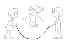kids playing - stock illustration