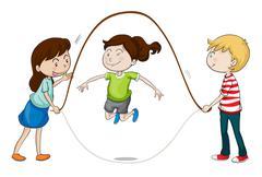 a kids - stock illustration