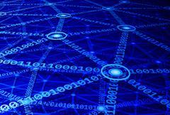 Computer network - stock illustration