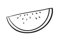 Water melon slice Stock Illustration