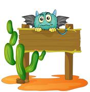 board and monster - stock illustration