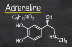 Blackboard with the chemical formula of adrenaline Stock Illustration