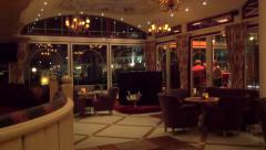 Hall piano bar luxury Stock Footage