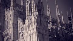 Side view of the Milan Dome Stock Footage