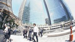 Modern business square Stock Footage