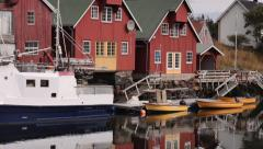 Wooden houses in Norway Stock Footage