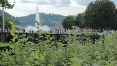 Scenic View Of Point State Park In Pittsburgh, Pennsylvania, USA Pan HD Stock Footage