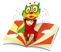 Stock Illustration of boy and book