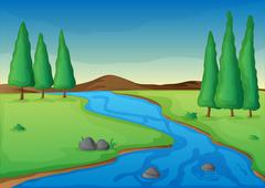 river - stock illustration