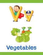 Kids with letter V Stock Illustration