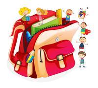 School concept Stock Illustration