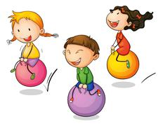 Bounce - stock illustration