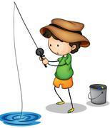 Active kid Stock Illustration